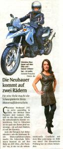 Zeitung_Christine-Neubauer-Motorradfuehrerschein-Muenchen